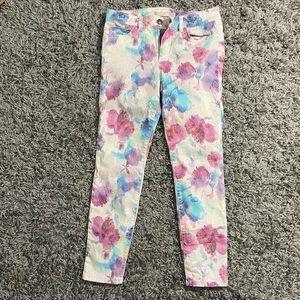 JOE'S Jeans Floral Watercolor Denim